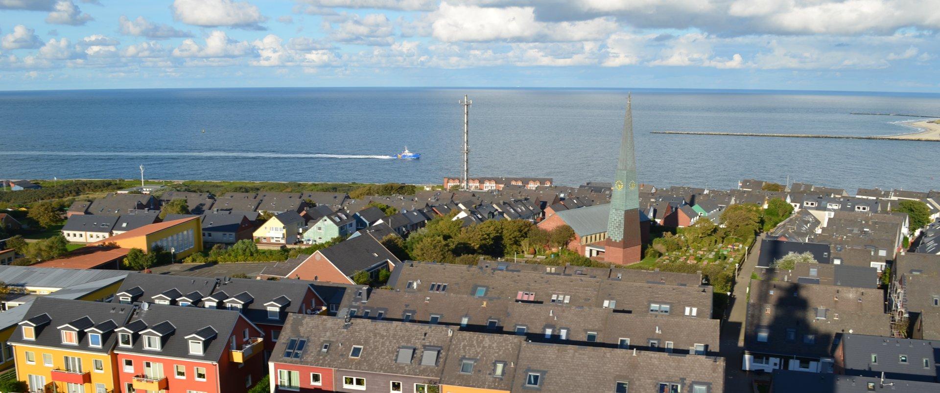 Dünenblick Apartments Helgoland Ausblick Meer
