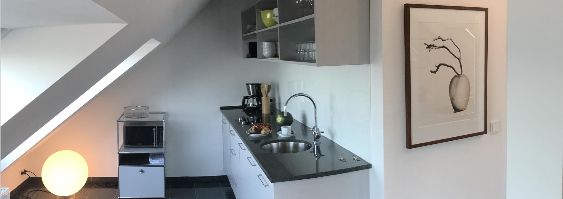 Dünenblick Apartments Helgoland Nautilus Küche