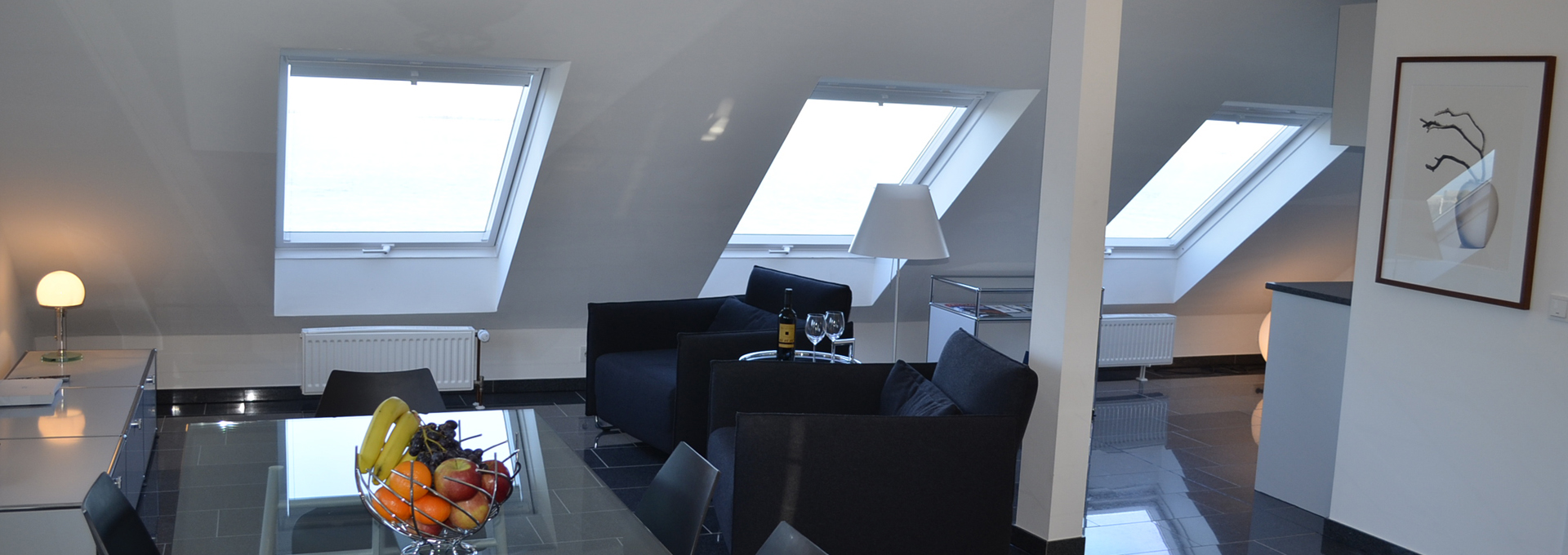 Dünenblick Apartments Helgoland Nautilus Wohnzimmer