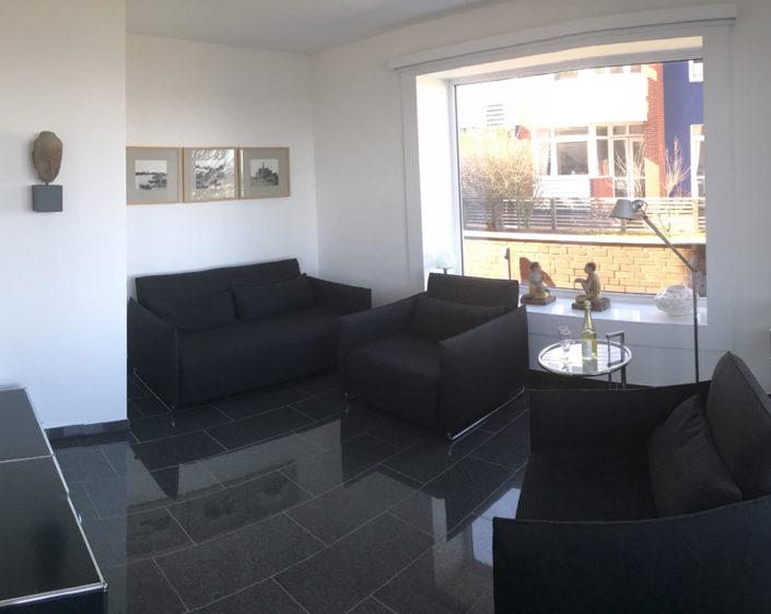 Dünenblick Apartments Helgoland Sam Wohnzimmer