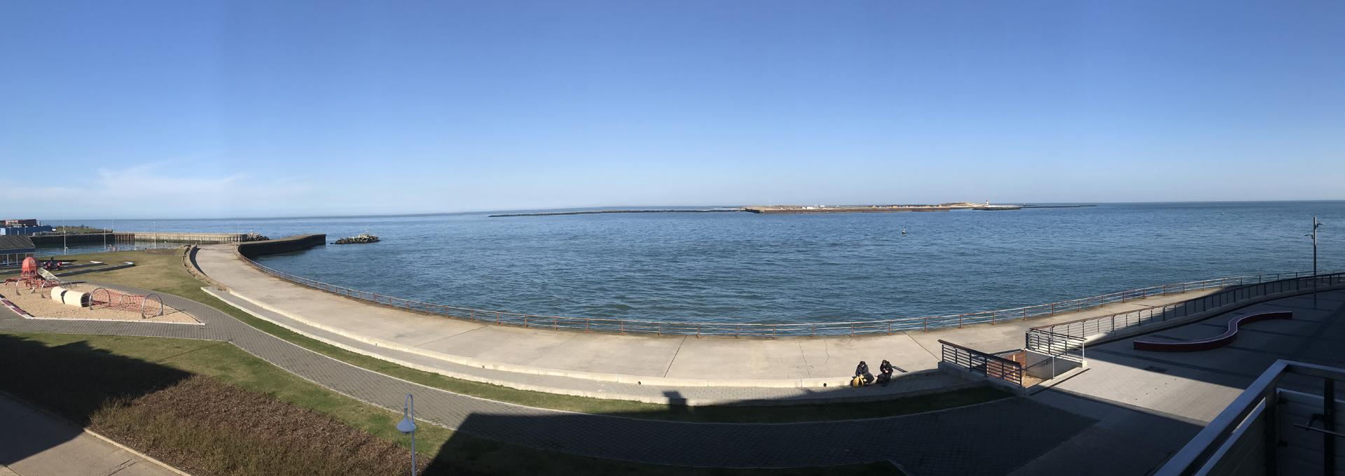 Dünenblick Apartments Helgoland Aussicht aufs Meer